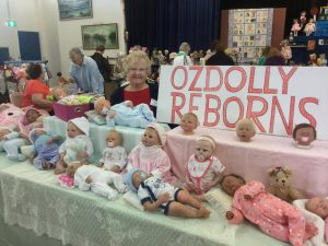 Sheila from OzDolly Reborns shows her wares