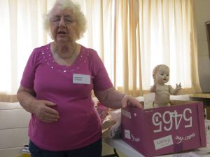 Marj holds court on Doll-rescue!