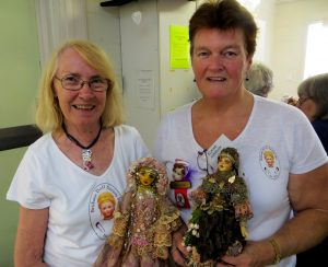 Anna & Elaine with Attic Dolls