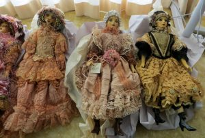 3 gorgeous Attic Dolls on sale (made by Linda Carroll doll Artist)