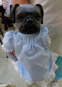 A dog-doll purchased in the doll sale!
