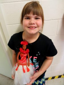 Kalani with her lovely Hawaiian doll gifted by Elaine S