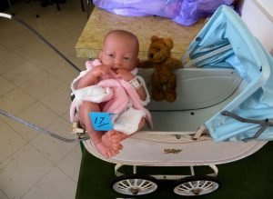 Kids' comp entry/winner 'baby doll' with pram!