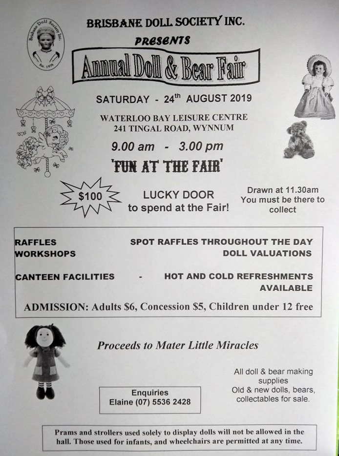 2019 Annual Doll & Bear Fair Flyer