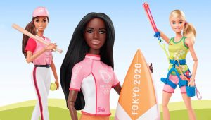 Olympics Barbie Dolls in action!